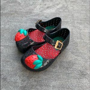 Mini Melissa toddler size 6 strawberry shoes